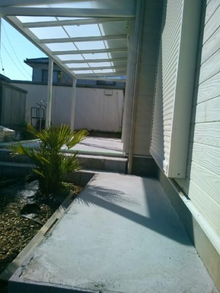 ガーデンルームコンクリ1