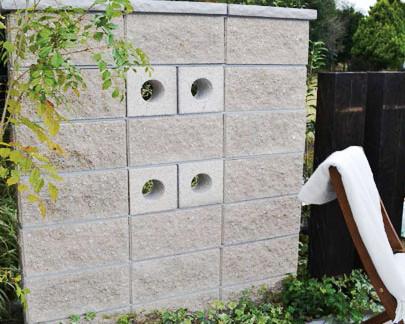 グラニットスクリーンサークル 壁 ブロック