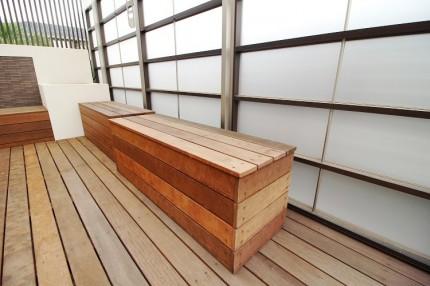 可動式 ベンチ 天然木 イタウバ
