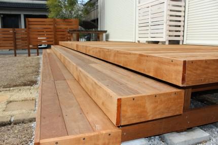 天然木 デッキ ベンチ