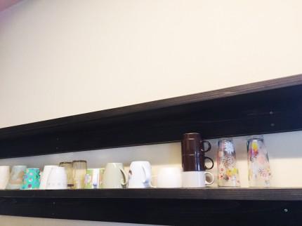 食器棚 デッキ材