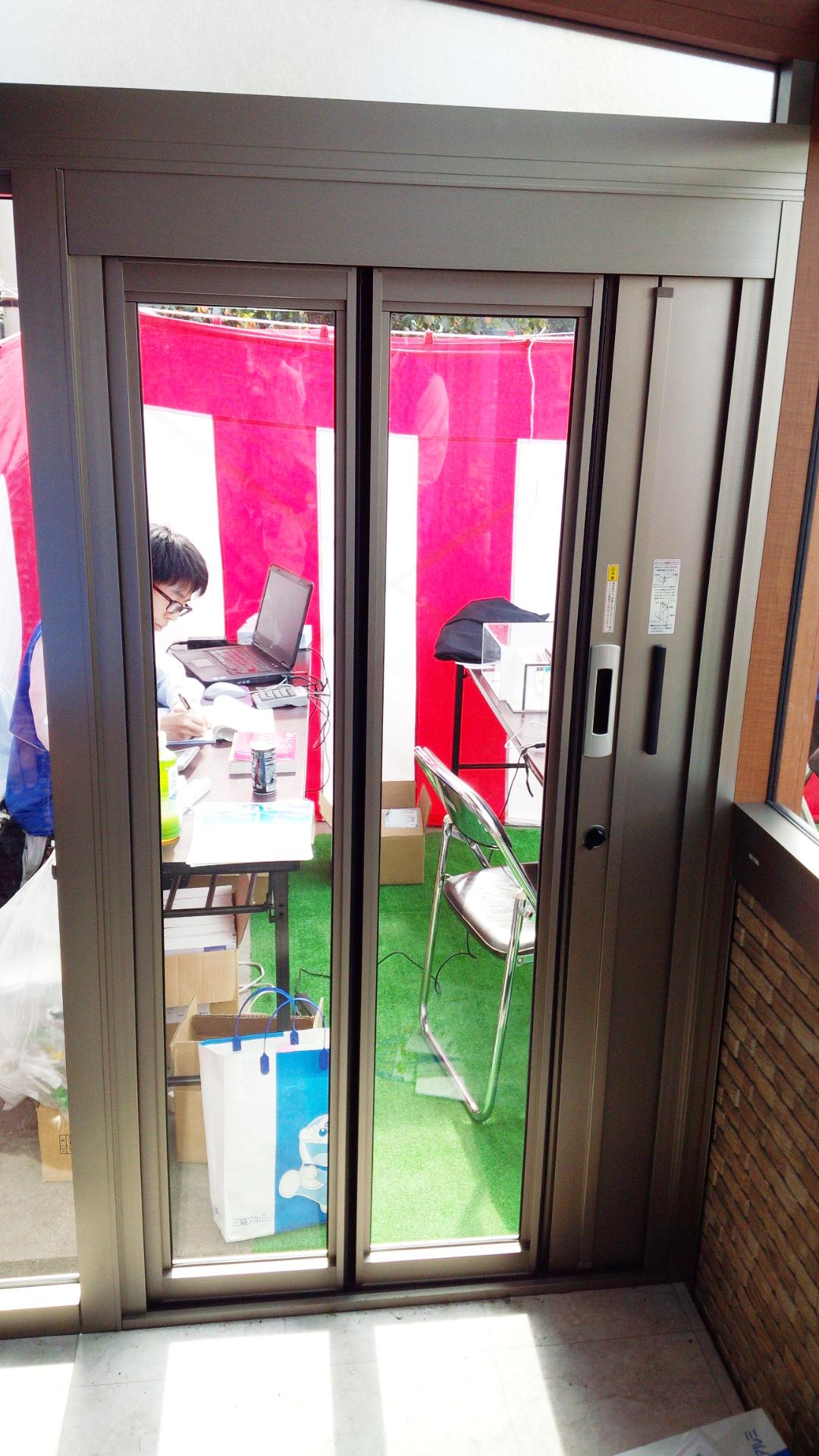 ガーデンルームハピーナの折戸